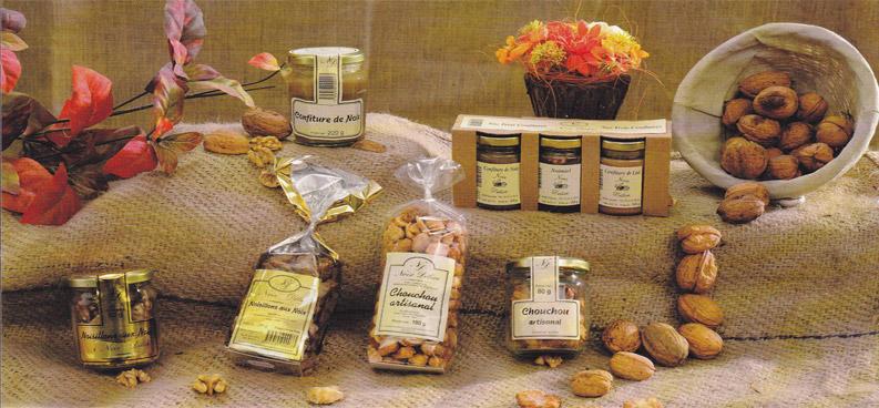 confiserie artisanale spécialités à base de noix